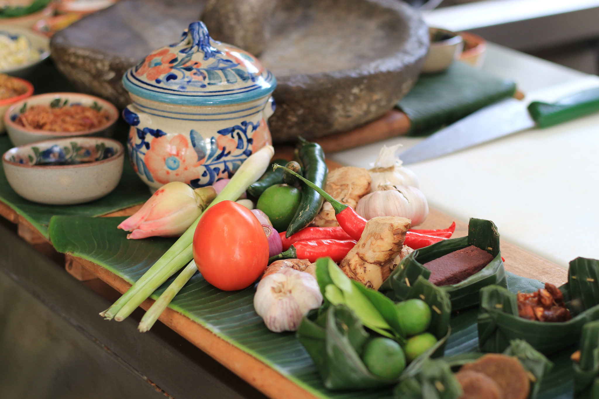 herb and spices at ayung resort ubud