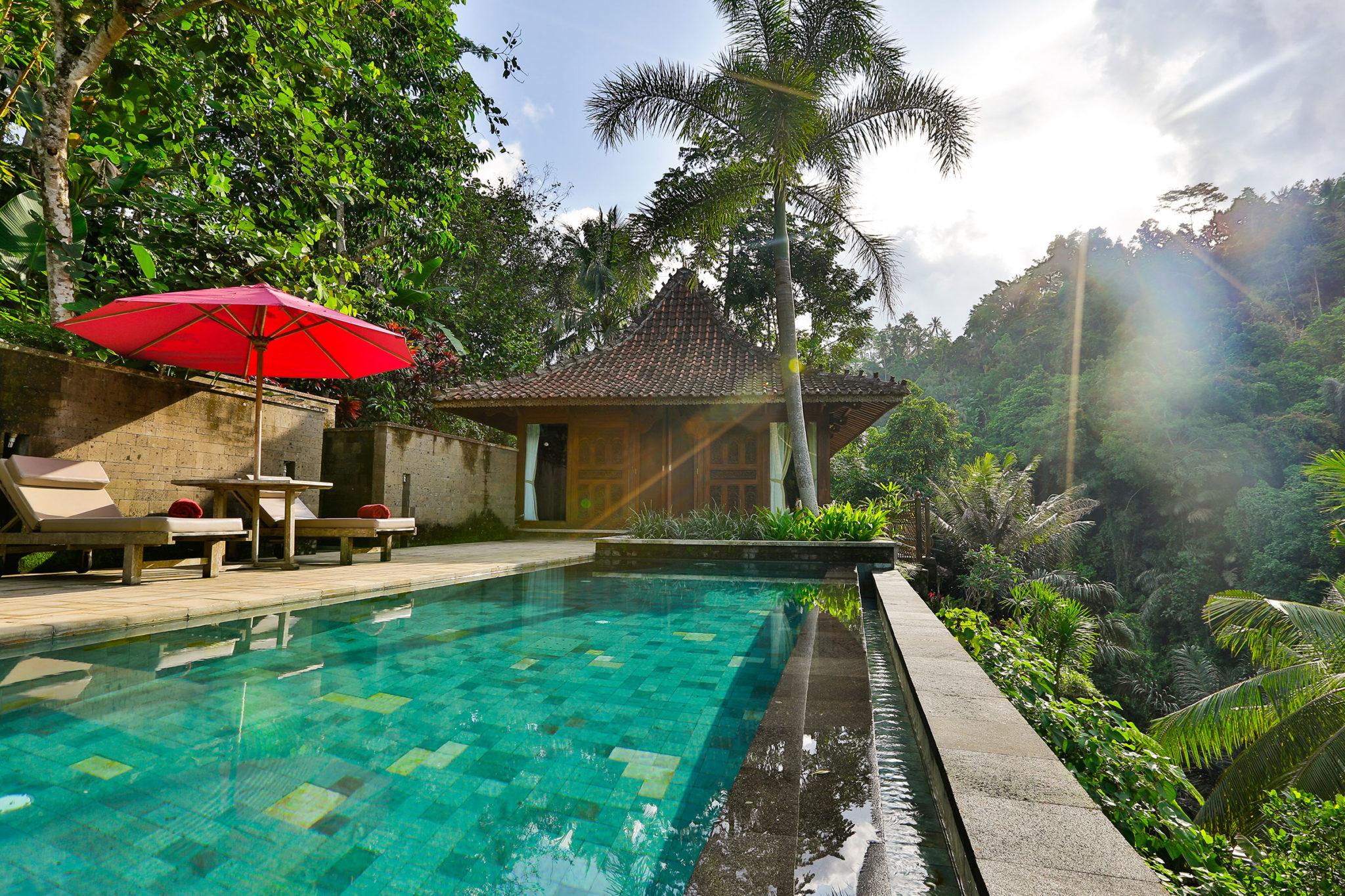 one bedroom villa suite private pool