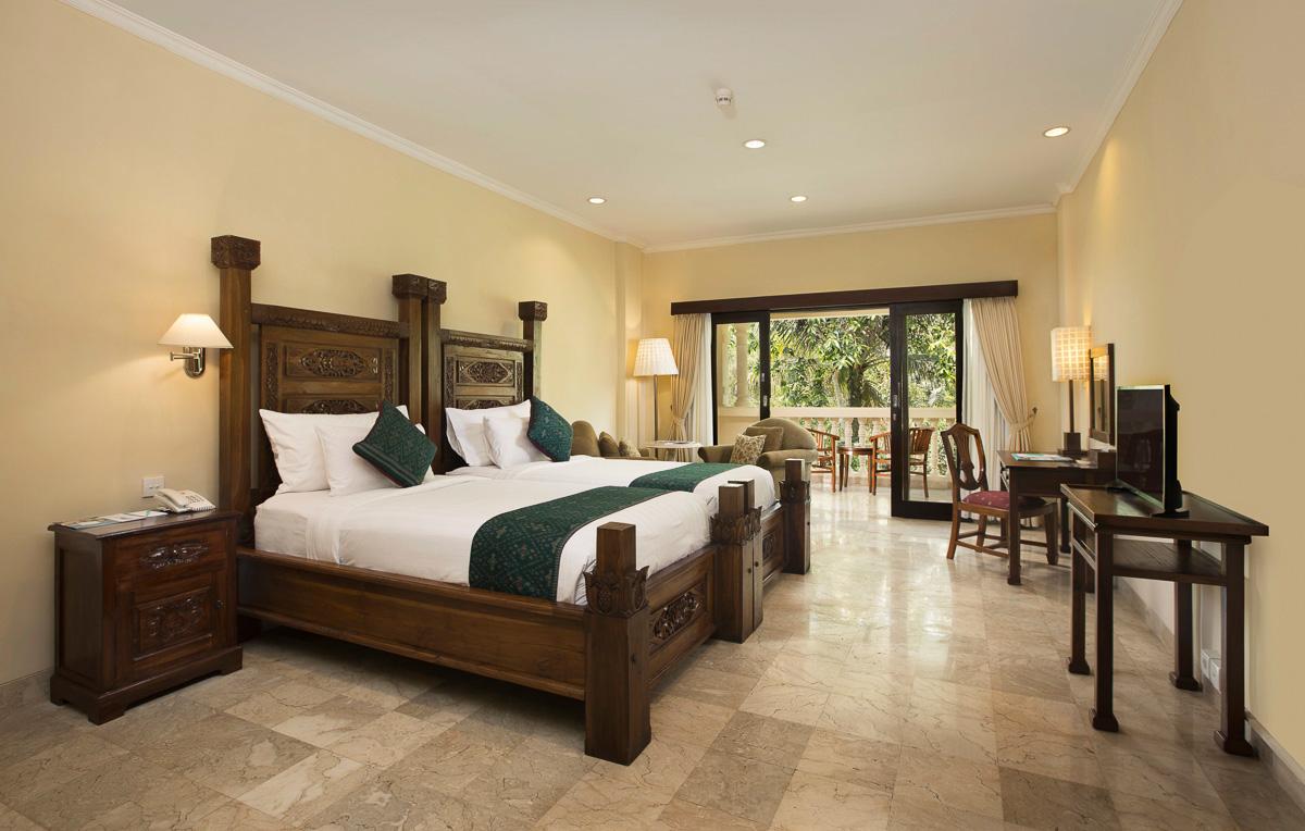 deluxe twin room at ayung resort ubud