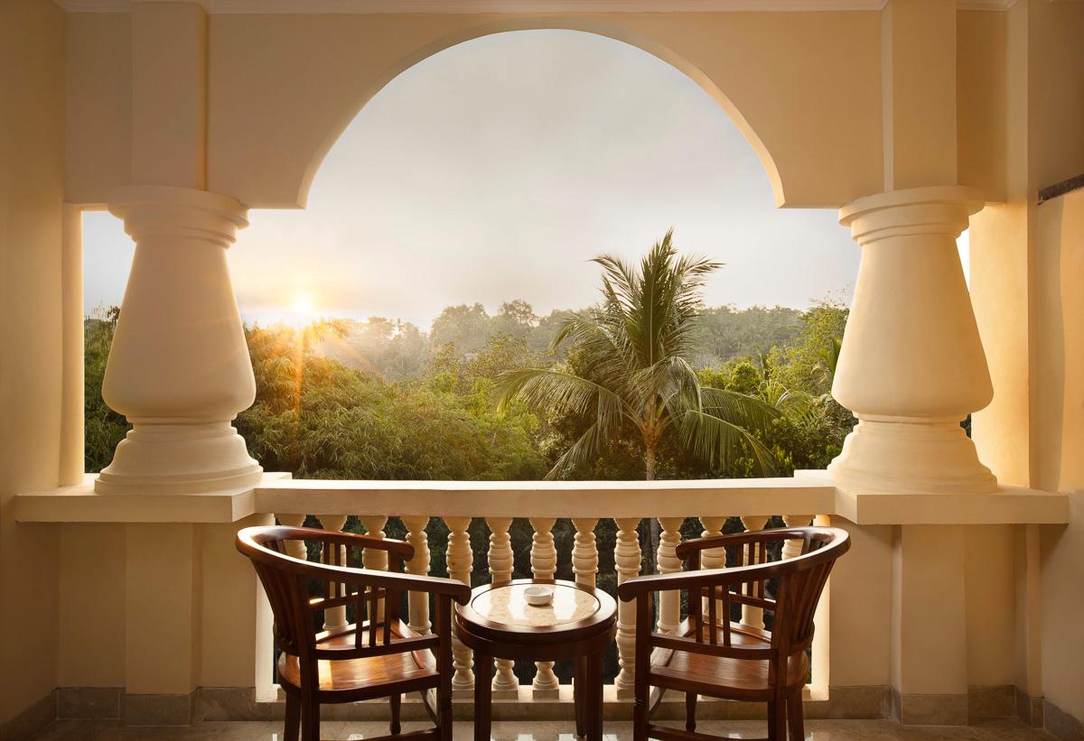 superior room balcony view at ayung resort ubud